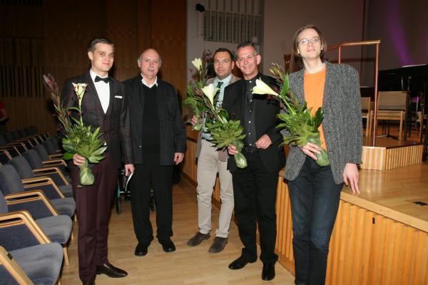 III KANSAINVÄLINEN UUNO KLAMI -SÄVELLYSKILPAILU 2013-2014 / Finalistit / Kuva: Heikki Y. Rissanen