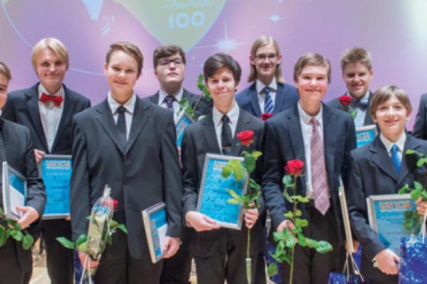 III Lasten ja nuorten Uuno Klami –sävellyskilpailun finalistit. Kuva: Petri Hurme.